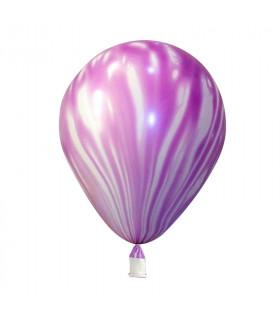 Ballons marbrés 30cm Violet 12pcs