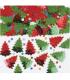 Confettis de table sapin de noël rouge et vert