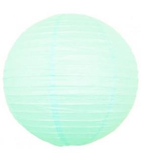 Lanterne en papier chinois boule deco Vert d'eau