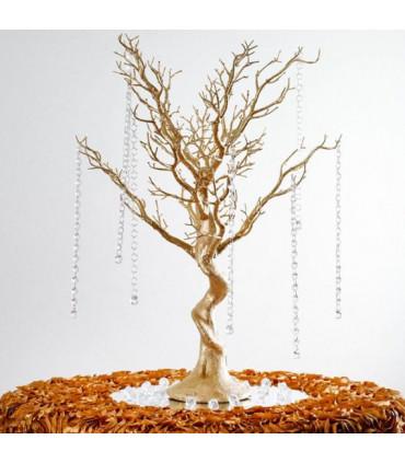 centre de table arbre artificielle 75cm or couleur or. Black Bedroom Furniture Sets. Home Design Ideas