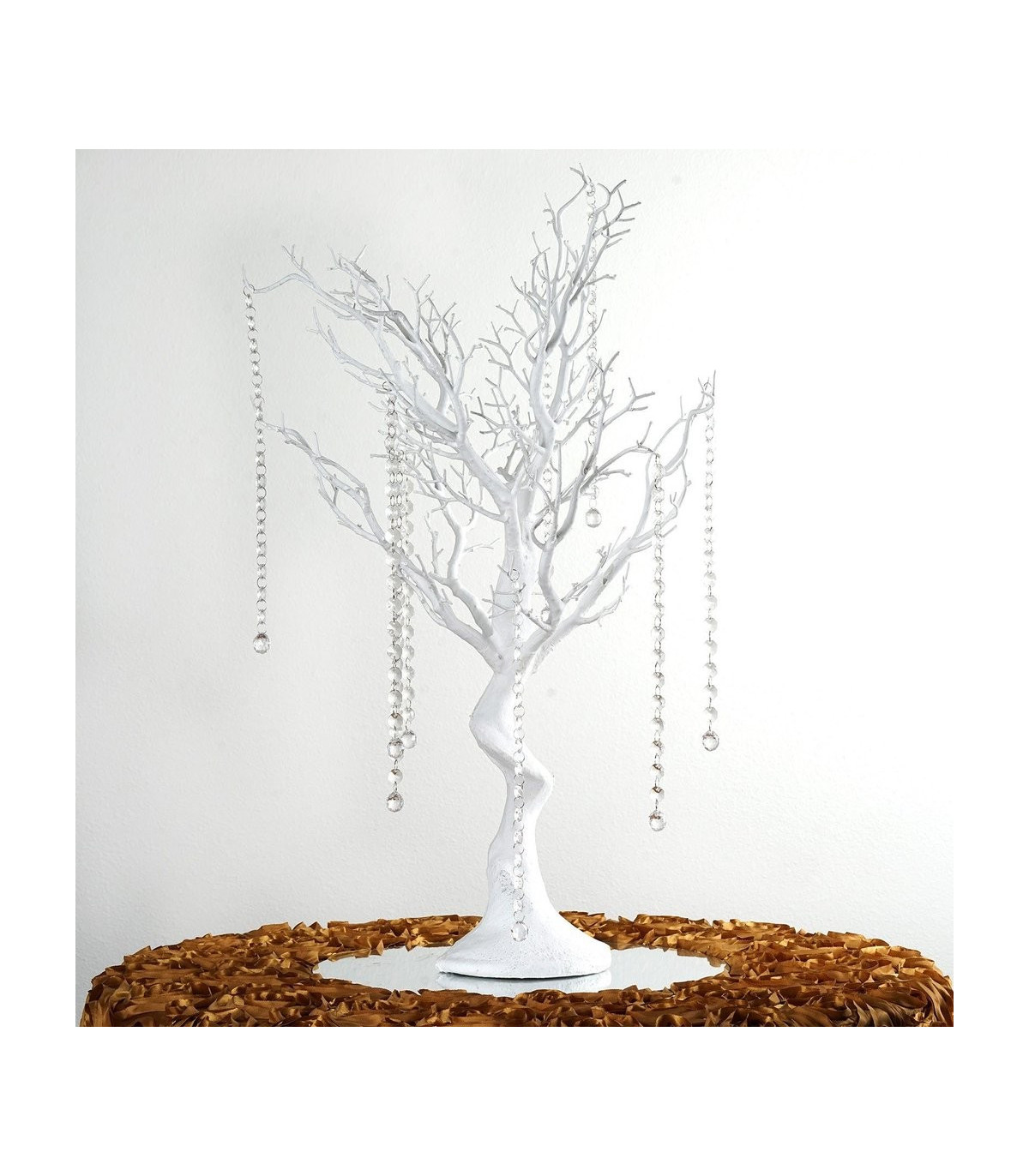 centre de table arbre artificielle 75cm blanc couleur blanc. Black Bedroom Furniture Sets. Home Design Ideas