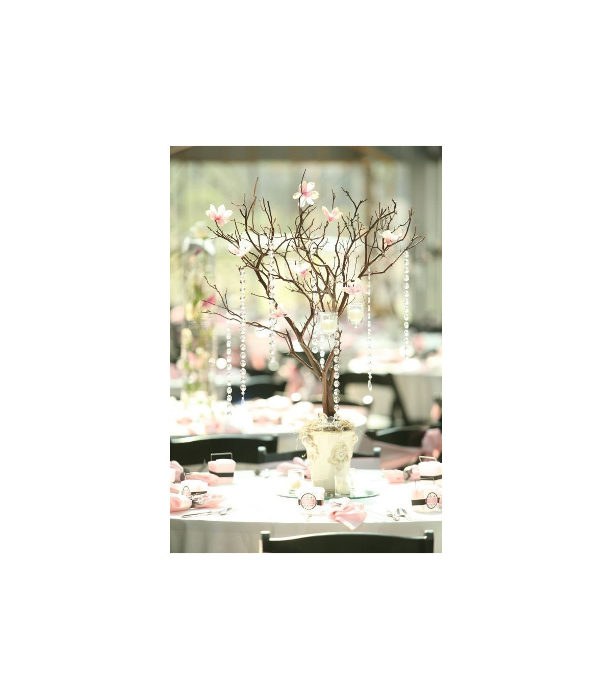 centre de table arbre artificielle 75cm caf couleur chocolat. Black Bedroom Furniture Sets. Home Design Ideas