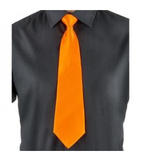 Cravate Orange Polyester satin