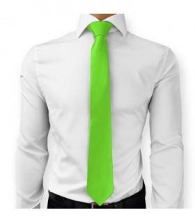 Cravate Vert lime Polyester satin