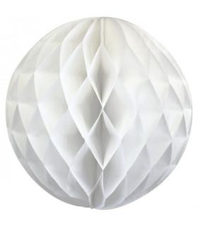 Boule alvéolé en papier Blanc