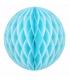 Boule alvéolée en papier bleu ciel