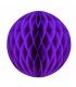 Boule alvéolée en papier violet