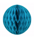 Boule alvéolée en papier bleu azur