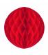Boule alvéolée en papier rouge