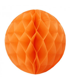 Boule alvéolée en papier orange