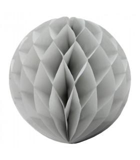 Boule alvéolée en papier gris