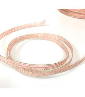 Ruban en jute diy decoration rose/or 0,6cm