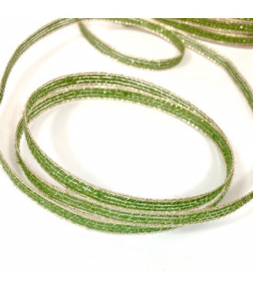 Ruban en jute diy decoration vert/or 0,6cm