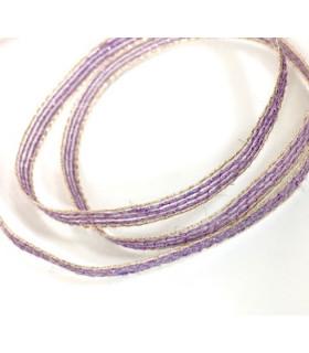 Ruban en jute diy decoration violet/or 0,6cm