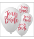 10 ballons latex blanc Team Bride EVJF