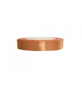 Ruban satin 1.5cm 22M bronze