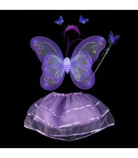 Déguisement enfant fée papillon Kit complet Violet