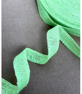 Ruban en jute de couleur vert pomme 2.5cm