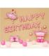 Kit ballon anniversaire murale danseuse rose