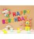 Kit ballon anniversaire murale licorne soleil