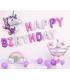 Kit ballon anniversaire murale licorne couronne violet
