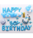 Kit ballon anniversaire Dodo murale Boy Birthday Bleu