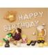 Kit ballon anniversaire murale bouteille champagne