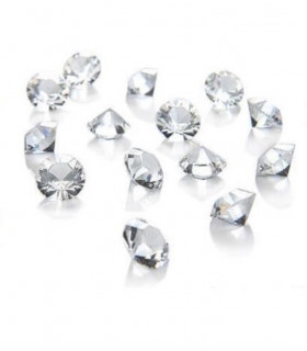 Confettis de table cristal, diamant sachet 400pcs Translucide