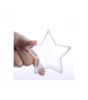 Contenant dragées suspension décorative en forme d'étoile Translucide 5 pcs