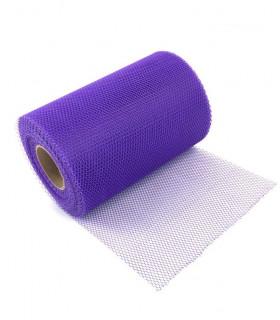 Ruban Large Tulle rigide uni en rouleau 14 cm x 23m Violet
