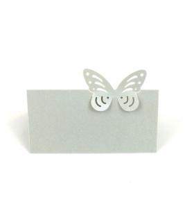 Marque Place table de fête modèle papillon seul Light Grey 20 pcs