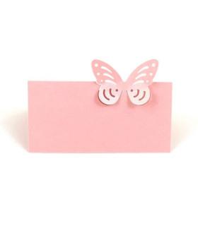 Marque Place table de fête modèle papillon seul Rose 20 pcs