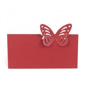 Marque Place table de fête modèle papillon seul Rouge 20 pcs