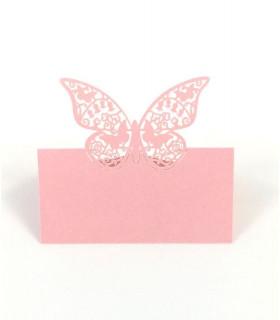 Marque Place table de fête modèle grand papillon Rose 20 pcs
