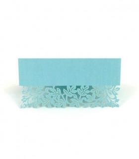 Marque Place table de fête motif floral Bleu Ciel 20 pcs